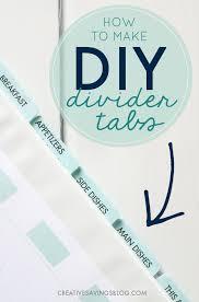 Diy Divider Tabs The Easiest Trick For Binder Organization