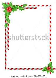 christmas candy border. Interesting Candy Christmas Border Candy Cane Holly Leaves Stock Vector 224628868 Inside  22283 In S