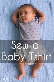 Sew a <b>Baby Tshirt</b> - With Free Pattern - Melly Sews