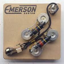 emerson wiring harness emerson image wiring diagram amazon com emerson custom prewired kit for gibson sg guitars on emerson wiring harness