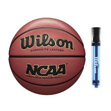 com wilson ncaa replica game basketball official 29 5 with pump sports outdoors