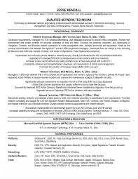 Network Technician Resume Samples Fascinating Also Examples Of