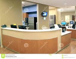 office receptionist desk front reception hospital royalty free stock g cal