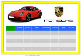 Racing Car Sticker Charts