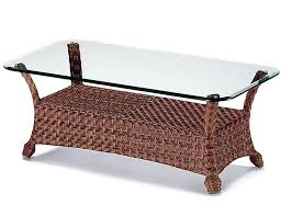 rattan coffee table round black asda