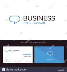 Chat Front Design Twitter Chat Chatting Blue Business Logo And Business Card