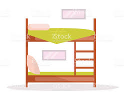 Bunk Bed Vector Cartoon Stock Vector Art More Images of Apartment