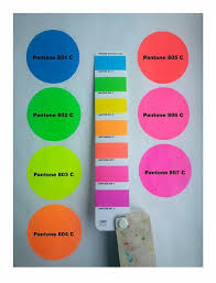 Pantone Fluorescent In 2019 Neon Colour Palette Pantone