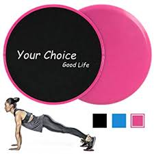 your choice sliders fitness exercise core gliders gliding discs fitness equipment for full body workout pact for travel or home color pink set of 2