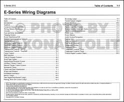 wiring diagrams for ford e series vehicles e trailer 2012 ford econoline van and club wagon wiring diagram manual original