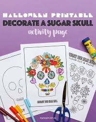 decorate a sugar skull activity page mypoppet com au