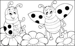 Lady Bug Coloring Sheet Ladybug Coloring Page Antalyaesc07 Org