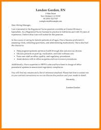 5 Cover Letter Nursing Sample Hostess Resume