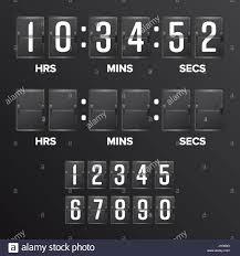 Flip Countdown Timer Vector Analog Black Scoreboard Digital Timer