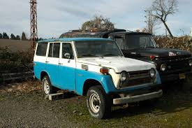 OLD PARKED CARS.: 1978 Toyota Land Cruiser.