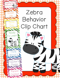 Behavior Clip Chart Behavior Management Zebra Zebra Print