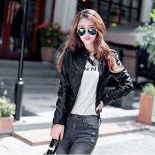 <b>5XL</b> Women <b>Large Size</b> Slim Short Leather Jacket Pacthwork ...