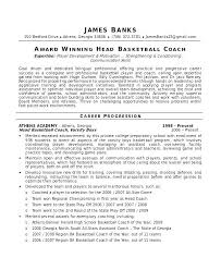 Sample Coaches Resume Coaching Resume Template Soccer