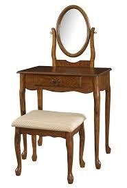 Oak Bedroom Vanity Powell Woodland Oak Vanity Set 604 510