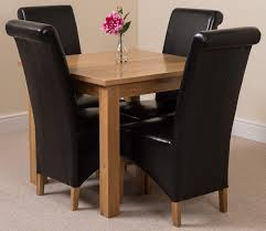 square dining table for 4. Oslo Solid Oak Dining Table With 4 Montana Chairs [Black Leather] Square For E