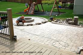 how to build a patio with pavers how to do a stone patio yourself brick paver