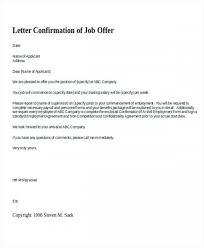 Sample Letter Confirming Employment Employment Confirmation Letter Template Doc Climatejourney Org