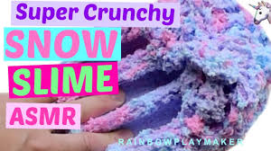 how to make snow slime diy the crunchiest slime in the world crunchy asmr