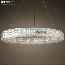 round chandelier light luxury round crystal chandelier light large hanging lighting for restaurant hotel project crystal round chandelier light