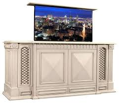 tv lift kit foot of the bed lift fur lift cabinet living room transitional with lift tv lift