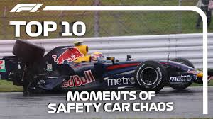 Top 10 Moments Of F1 <b>Safety Car</b> Chaos - YouTube