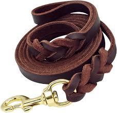beirui braided leather 6ft dog leash 3 4 inch heavy duty brown training lead
