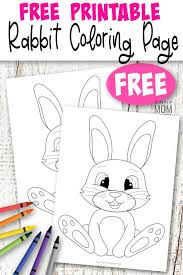 These coloring sheets provide a fun activity for children, while promoting the important goals of healthy eating and physical activity. Free To Print Bunny Coloring Page Simple Mom Project