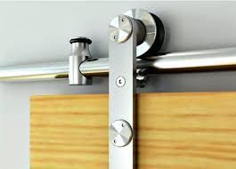 us futaba 77113 56 002 78 1981mm round rail sliding barn door track set with soft close 260lb stainless steel the hardware hut
