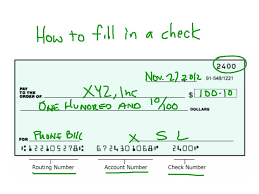 How To Fill In A Check Business Finance Bank Check Social