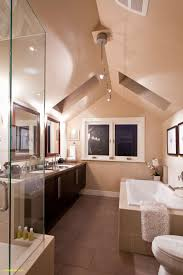 master bedroom with open bathroom. Master Bedroom Ensuite C W Vaulted Ceiling And Skylights With Open Bathroom