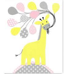 giraffe nursery art gray pink yellow girl s room decor toddler room art childrens wall art playroom decor baby shower gift baby girl on wall art childs room with giraffe nursery art gray pink yellow girl s room decor toddler