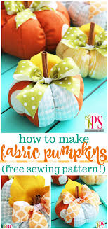 Fabric Pumpkin Pattern