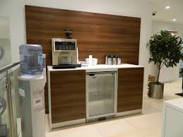 office coffee station. Awesome Coffee Point In Walnut Finish With Cooler. | Workplace Office Station F