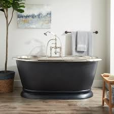 61 kaela hammered copper pedestal tub tap deck nickel interior antique black