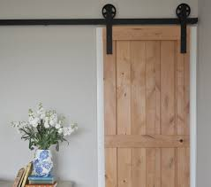 image of single and small sliding barn door hardware