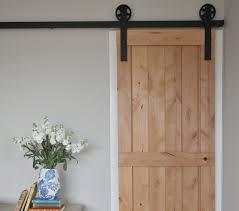 single and small sliding barn door hardware