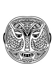 Small Picture Coloring picture of an African mask 5 From the gallery Africa