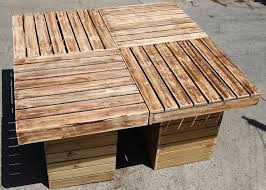 reclaimed pallet outdoor table