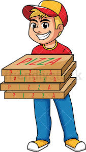 pizza delivery clipart. Unique Delivery Delivery Man Holding Pizza Boxes PNG  JPG And Vector EPS Infinitely  Scalable Throughout Pizza Clipart D