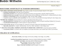 sample resume for hotel front desk supervisor ...