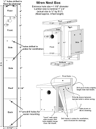 Sparrow Birdhouse Hole Size Chart Free Wren House Plans Easy Diy Project