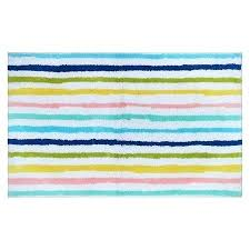 madison park striped bath rug cool stripe blue target baby in