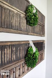 vibrant ideas wall shutter decor home remodel thrifty blesserhouse com rustic old arched antique s