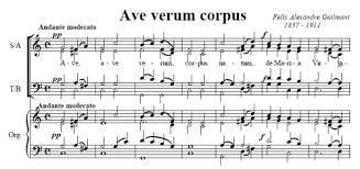 ave verum corpus sheet music ave verum corpus felix alexandre guilmant sheet music to download