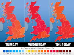 4 Day Weather Chart Uk Weather Forecast Britain Set To Enjoy 23c Temperatures